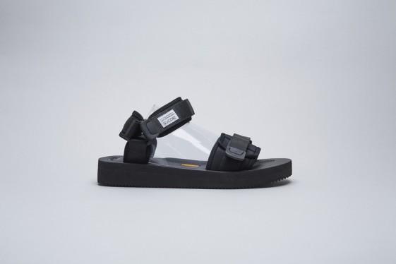 Suicoke Black Cel-V Sandals [SK107